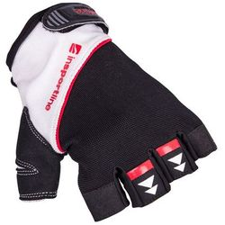 Rękawice do ćwiczeń fitness na siłownie inSPORTline Harjot, Czarno-biały, M
