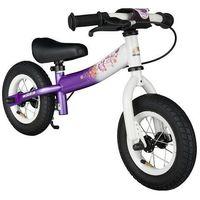 """Rowerki biegowe, Rowerek biegowy 10"""" BIKESTAR GERMANY sport kolor fioletowo biały"""