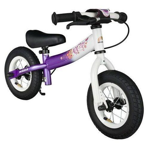 """Rowerki biegowe, Rowerek biegowy 10"""" BIKESTAR GERMANY sport fioletowo biały"""