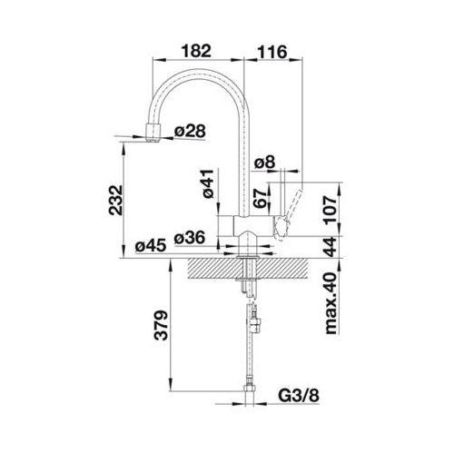 Baterie do kuchni, Bateria Blanco Filo -s 518811
