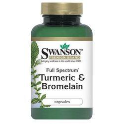 Swanson Full Spectrum Turmeric & Bromelaina 60 kaps. (data ważności 31/11/2015)