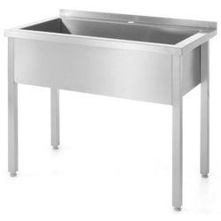 Stół z basenem jednokomorowym | szer: 800-1000mm | gł: 600mm