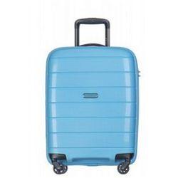 PUCCINI walizka mała/ kabinowa twarda z kolekcji MADAGASCAR MADAGASKAR PP013 4 koła zamek szyfrowy TSA materiał polipropylen