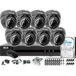 Monitoring po skrętce BCS Basic Full HD 2MPx 1TB H265+ 8 x Kamera kopułkowa 2.8-12mm IR 40m Rejestrator 16 kanałowy