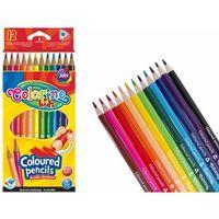 Kredki, Kredki ołówkowe 12 kolorów Colorino