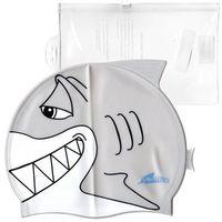 Czepki, Silikonowy czepek dla dzieci SwimFin - Szary