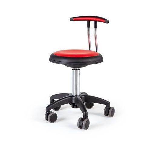 Pozostałe meble biurowe, Mobilny stołek STAR, 380-480 mm, czerwony
