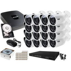 Zestaw do monitoringu: Rejestrator BCS-NVR16015ME-II + 16x Kamera BCS-TIP3200IR-E + 1TB