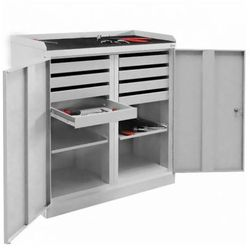 Szafka warsztatowa SZW 108 na narzędzia półka wysuwana szuflady