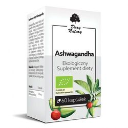 Ashwagandha Eko 60 Kapsułek - Sulement Diety - Dary Natury