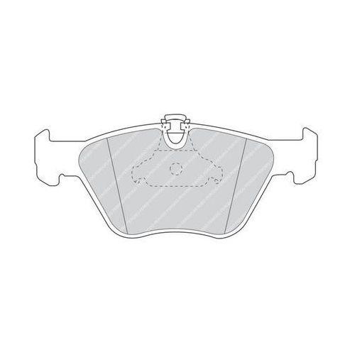 Klocki hamulcowe, FERODO - Zestaw klocków hamulcowych, hamulce tarczowe