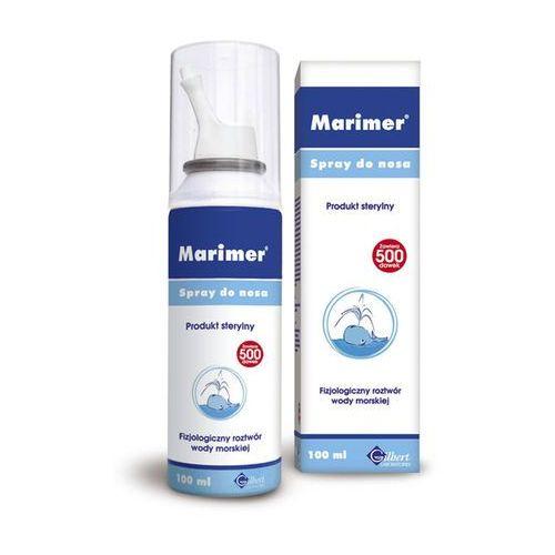Leki na katar i zatoki, Marimer Izotoniczny Spray oczyszczająca woda morska do nosa 100 ml