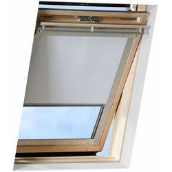 Roleta na okno dachowe VELUX manualna Standard DKL FK04 66x98 zaciemniająca szara
