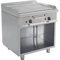Grille gastronomiczne, Płyta grillowa gazowa ryflowana wolnostojąca | 790x530mm | 12000W