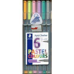 Cienkopis Triplus fineliner 0,3 mm 6 kolorów pastelowych. Darmowy odbiór w niemal 100 księgarniach!