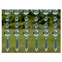 Girlanda kryształowa stożek - bezbarwna - 1 m - 1 szt.