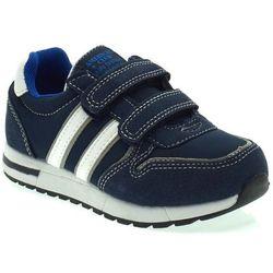 Dziecięce buty sportowe American Club ES10/20 Granatowe - Granatowy