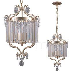 Żyrandol LAMPA wisząca RINALDO PND-33057-3-CH.G Italux metalowa OPRAWA kryształowy ZWIS na łańcuchu glamour złoty szampański