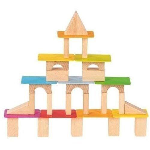 Zabawki z drewna, Drewniane klocki z lakierowanymi deseczkami