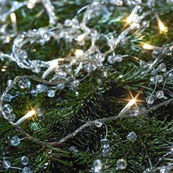 Łańcuch świetlny LED KRISP z małymi perełkami