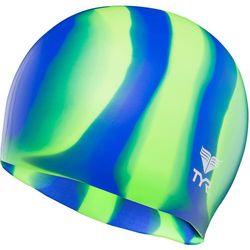 TYR Silicone Czepek pływacki zielony/niebieski 2018 Czepki Przy złożeniu zamówienia do godziny 16 ( od Pon. do Pt., wszystkie metody płatności z wyjątkiem przelewu bankowego), wysyłka odbędzie się tego samego dnia.