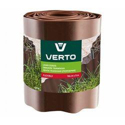 Obrzeże do trawników VERTO 15G514 Brązowy (15 cm x 9 m)