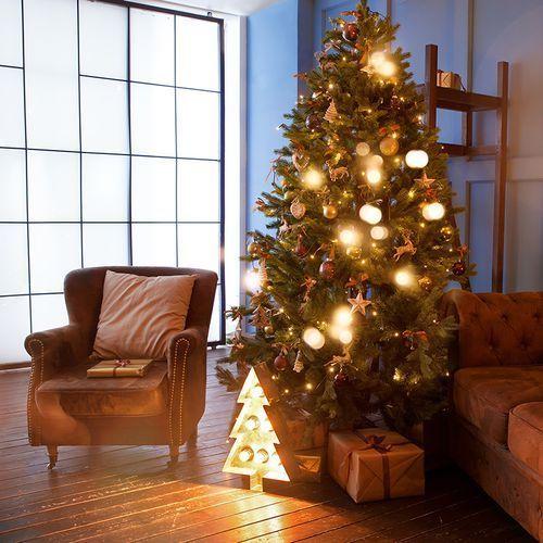 Ozdoby świąteczne, Choinka bożonarodzeniowa Den LED barwa ciepło biała 2,1 m
