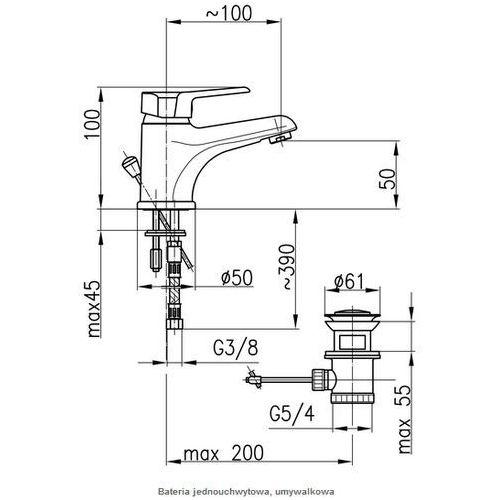 Baterie do umywalek, Bateria KFA Beryl 4802-815-00