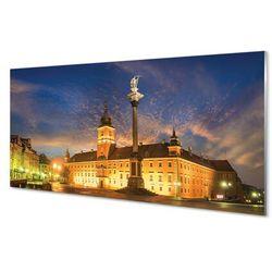 Panel Szklany Warszawa Stare miasto zachód słońca