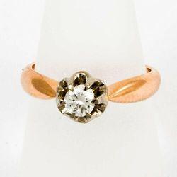 Złoty pierścionek z diamentem P1549
