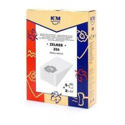 KM Z06 - Worki papierowe do odkurzaczy Zelmer 1010 + filtry