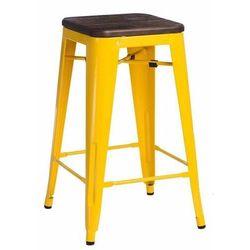 Hoker Paris Wood 75cm żółty sosna szczot kowana - D2 Design - Zapytaj o rabat!