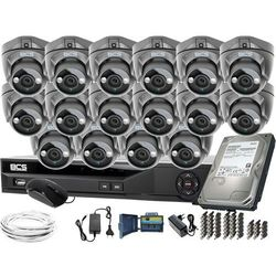 ZM11958 Monitoring na duże powierzchnie 16 kamer BCS-DMQE1500IR3-G BCS-XVR16014KE-II 1TB