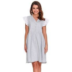 Koszula nocna ciążowa i do karmienia TCB.9914 DN - Grey Melange
