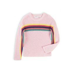 Różowy sweter w kolorowe paski 3F40AS Oferta ważna tylko do 2031-06-07
