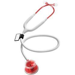 Lekki stetoskop internistyczny MDF Acoustica 747XP MOD - biały - czerwony