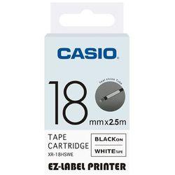 Casio taśma etykiet termozgrzewalna (do oznaczania kabli) XR-18HSWE, XR18HSWE