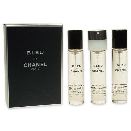 Zestawy zapachowe męskie, Chanel Bleu de Chanel woda toaletowa Twist and Spray 3x20 ml dla mężczyzn