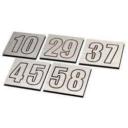 Numer, Numery Grawerowane na Drzwi z aluminium podwójny