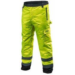 Spodnie robocze ocieplane żółte XXXL NEO