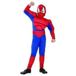 Kostium dziecięcy Człowiek Pająk - Spiderman z mięśniami - M - 121/130 cm