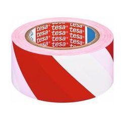 Taśma ostrzegawcza 50 mm x 33 m biało-czerwonaTESA
