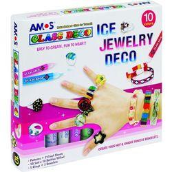 Farby witrażowe Glass Deco 10 kol.+biżuteria AMOS