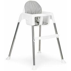 Krzesełko, fotelik do karmienia, tacka, pasy, 2 w 1, szare darmowa dostawa