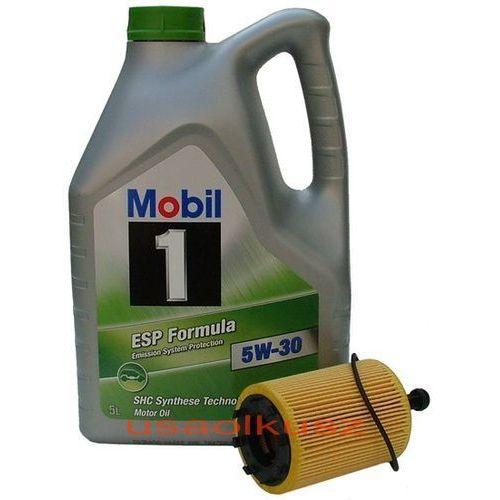 Oleje silnikowe, Filtr + olej Mobil 1 ESP Formula 5W30 Mitsubishi Outlander 2,0 DI-D 2007-