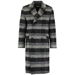 Weekday TRISTAN CHECKED Płaszcz wełniany /Płaszcz klasyczny black/beige