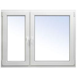 Okno PCV rozwierno-uchylne + rozwierne 1465 x 1135 mm lewe