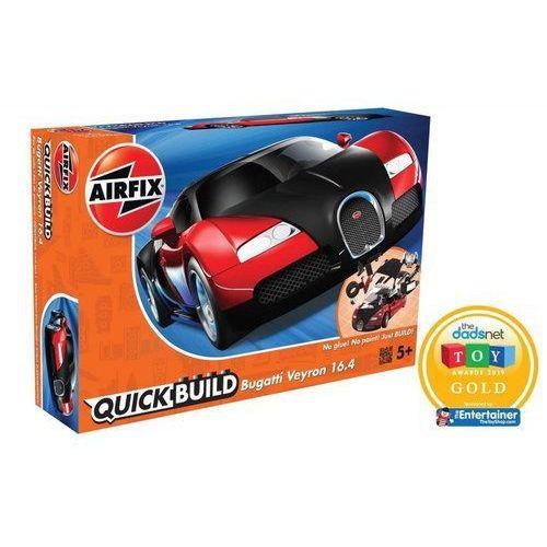 Figurki i postacie, Model plastikowy Quickbuild Bugatti Veyron czarny/czerwony