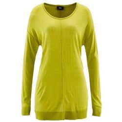 Sweter oversize bonprix pistacjowy