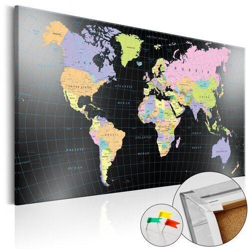 Obrazy, Obraz na korku - Królestwo człowieka [Mapa korkowa]